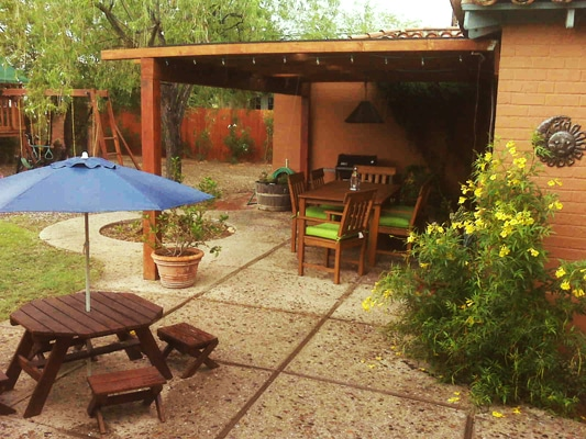 Large beautiful patio installed by Arizona LandShapes Inc.